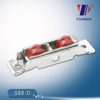 Adjustable nylon double door roller