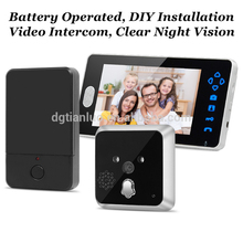 latest 7 inch doorbell video wireless door phone peephole with good performance