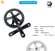 Pierced bike chain wheel,bicycle chain wheel crank 48 T chain wheel for fixed gear bike