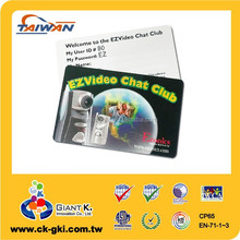 High Quality customized plastic working playing pvc employee id card