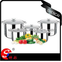 10pcs Excelsteel Encapsulated Base Stainless Steel Stockpot