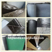 Polyester based modified asphalt waterproofing materials