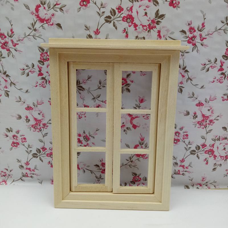 Unfinished 1/12 Scale Miniature Window Children Toys The Magic Door DIY Dolls House Door
