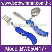 fork knife spoon folding ,H0T038 multi-functional camping knife , flatware cutlery