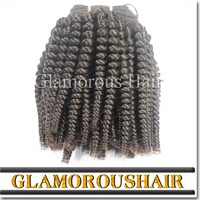 Wholesale raw virgin unprocessed human hair, mongolian kinky curly wavy human hair extensions