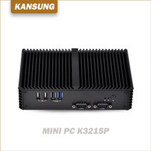 x86 cheap fanless mini industrial pc with 6 RS232 COM ports 2 RJ45 Lan ethernets pc