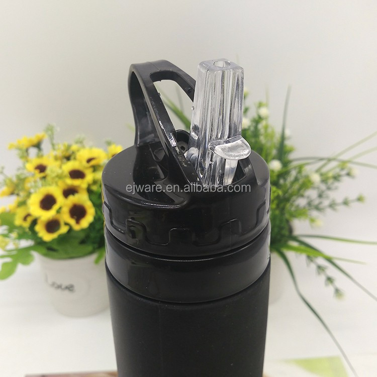 BPA Free Unbreakable Collapsible Foldable Silicone Water Bottle With Straw