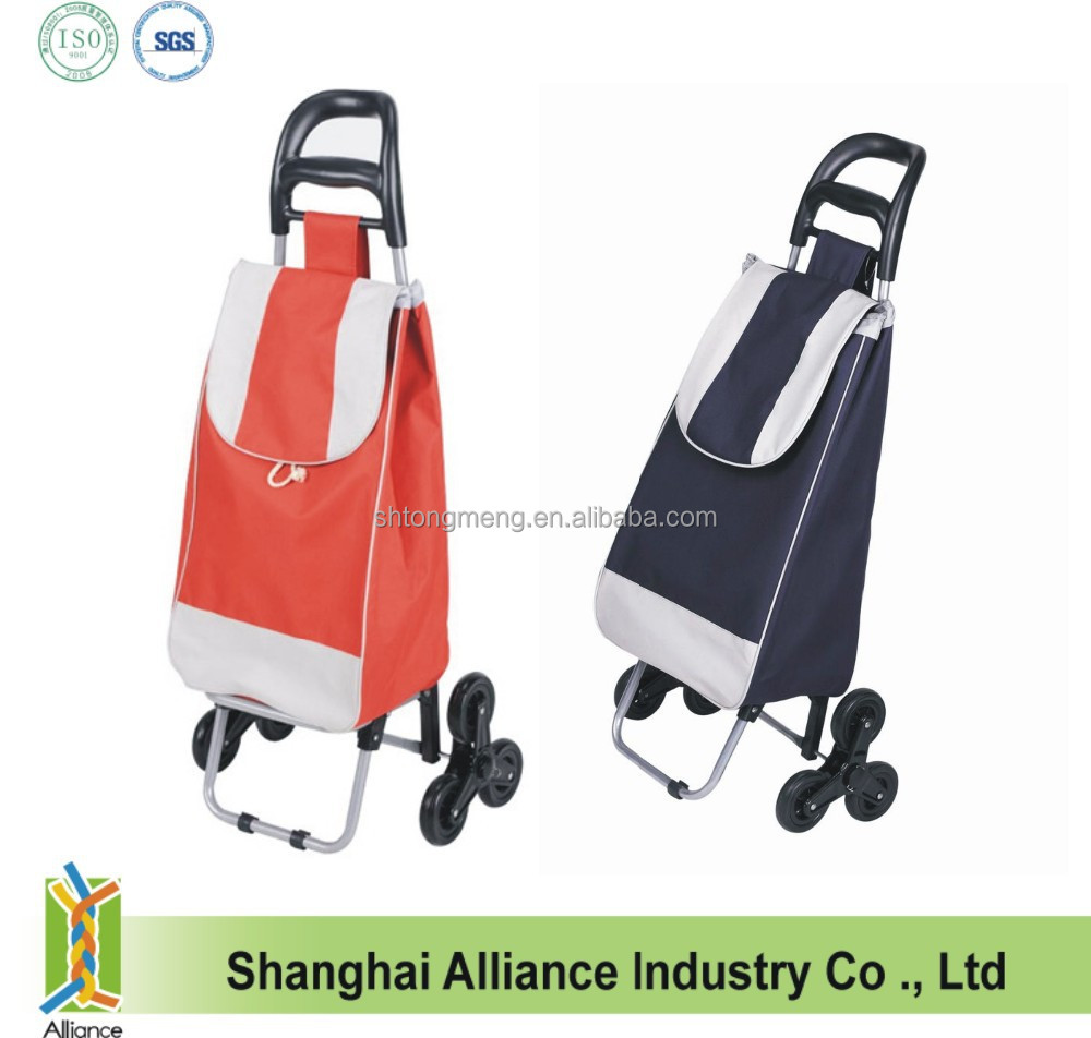 Stair Climber Shopping Trolley Foldable Collapsible Rolling Wheeled Market Cart Bag