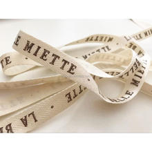 100% Natural Eco-Friendly Custom Printed Cotton Ribbon