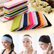 55mm width fashion elastic yoga sports hair band stretch terry cloth headband for women