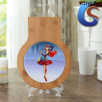 Decal Ceramic trivet with wood frame