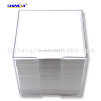 Plastic Box Memo Pad/memo block holder/desktop notepad holder