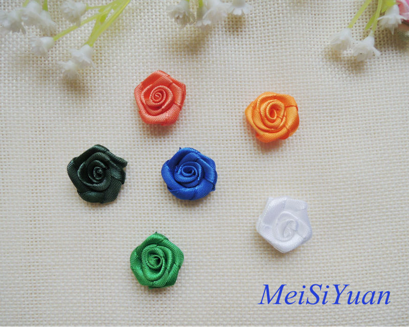Colorful mini satin rose for decoration