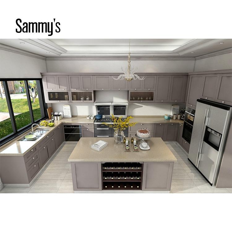 Foshan Manufacturer U Shape Modular Kitchen Design Philippines Ak176