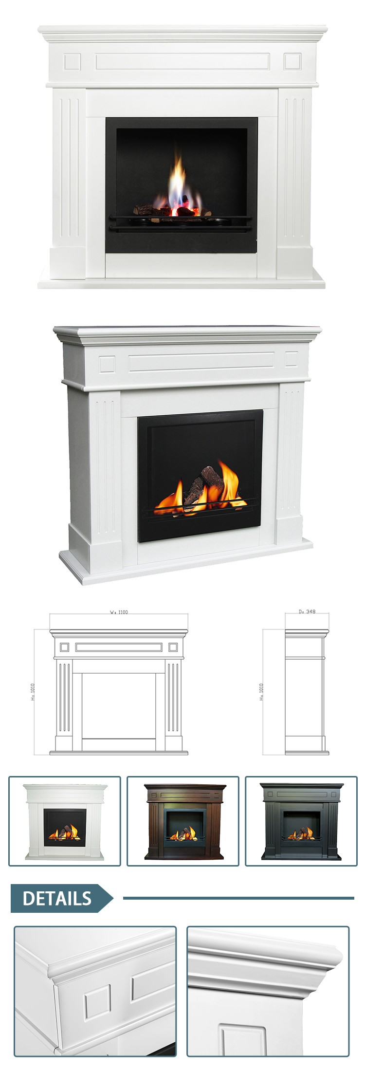Eco friendly bio ethanol real flame freestanding wood for Eco friendly fireplace