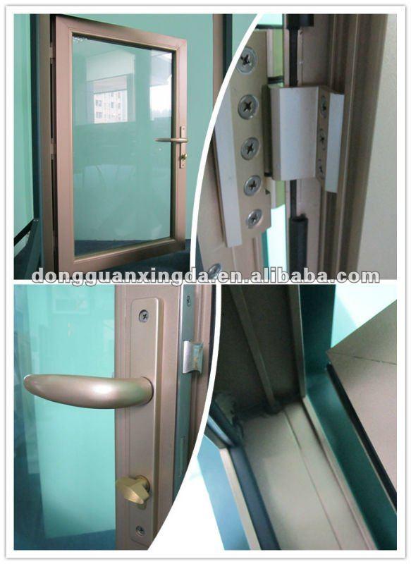 Bronce de aluminio de color de la cocina de la puerta for Ventanas de aluminio color bronce