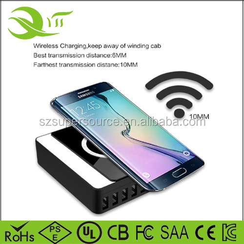 2016 NEW Universal Qi Wireless Charging Receiver 8 Charger Receiver Fast Wireless Charger Qi Charging Stand