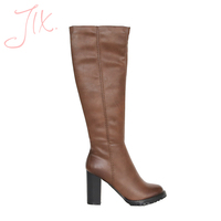 thigh high boots fashion leather pointed-toe heel boots women shoes.
