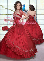 beaded red taffeta prom dresses 2013 collection western prom gowns with shawl