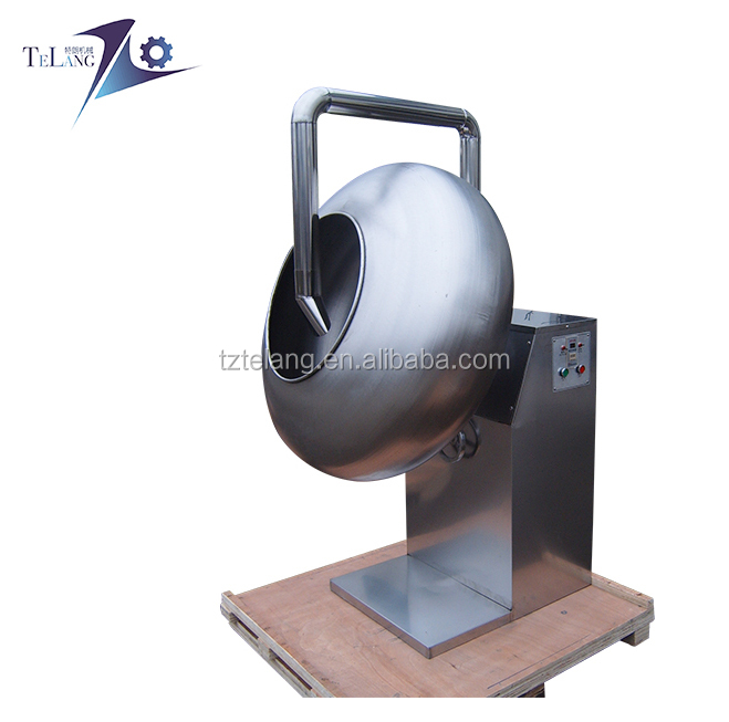 quality sugar glazing pan machine for groundnut peanut coating and chocolate polishing