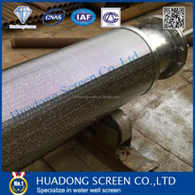 Deep well sainless steel slot 20 wedge wire screen/cylinderical screen pipe for drilling well
