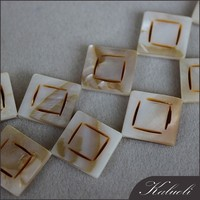Square shell pearl necklace strand raw material for making jewellery
