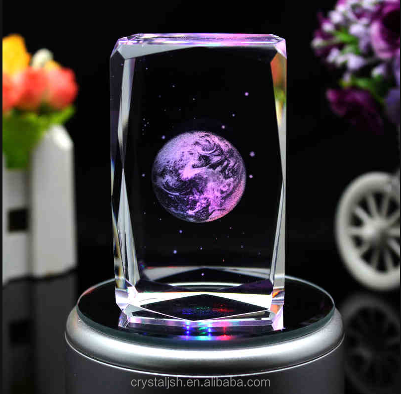 OEM crystal items crystal glass cube with laser engraving for wedding gift