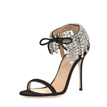 Fashion latest ladies sandals designs fancy footwear high heel sandals shoes women 2017