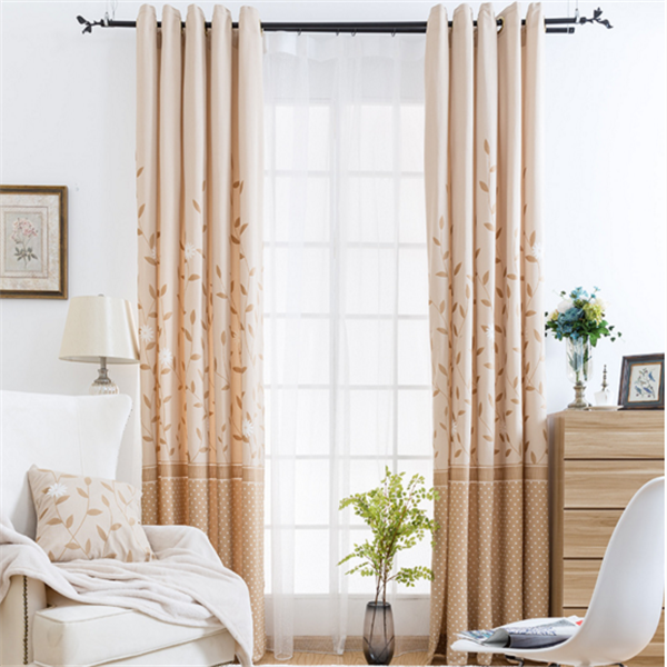 home textile modern leaves print curtains living room set window curtain