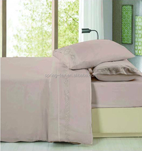 China manufacturer bright colors microfiber Embroidery duvet cover set, sheet set queen size 4pcs