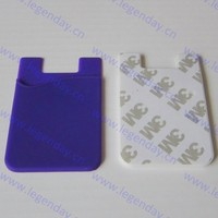 Fashional 3m Sticker Silicone Smart Wallet Silicon Phone Back Pouch For Card