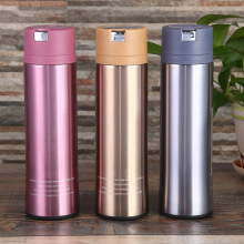 Vacuum Insulated Travel Water Bottle | Leak-Proof Double Wall Portable Wide Mouth Bottle /Sweat Proof Keeps Drinks Hot and Cold