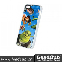 wholesale free sample 2D sublimation PC universal phone case with aluminum cover for iphone5/5s