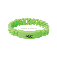 New products cheap twisted design silicone braided bracelet with custom logo