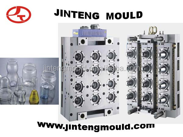 PET Jar Perform Mould Hot Runner stacking steel pet preforms wire container