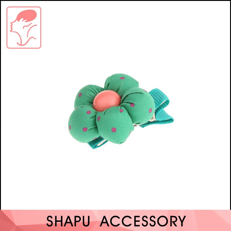 Hot selling OEM cheap fabric cover hair accessories kids hairgrips girls hair clips