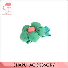 Hot selling OEM design cheap fabric cover girls hair clips