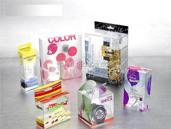 custom makeup fashion plastic PVC packing box for Polish and perfume