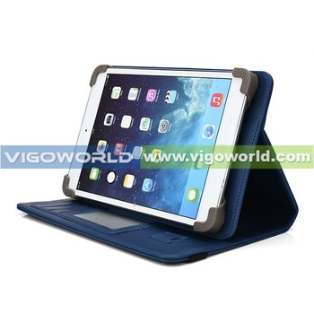 New universal tablet case patent products shockproof 10.1 leather tablet case with card slots and hand strap