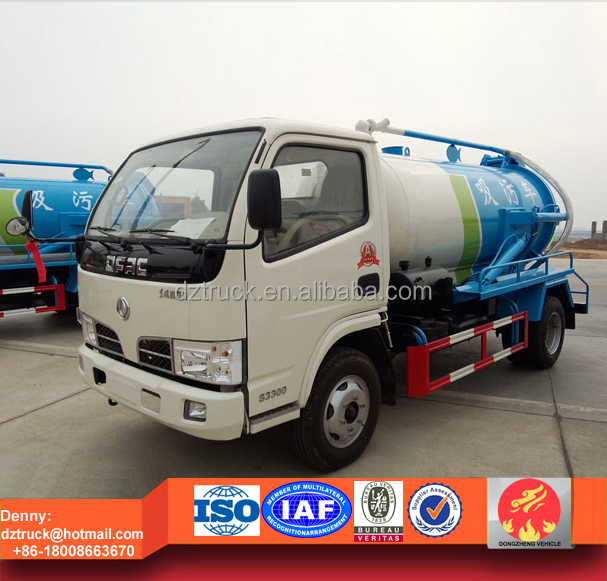 Dongfeng 3ton sewage sucking truck, mini sewage transport trucks