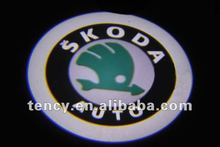 Car Door LED Welcome Light, LED Ghost Shadow Light, LED Laser Lamp with 3D Car Logo For SKODA (KF-3D-LO)