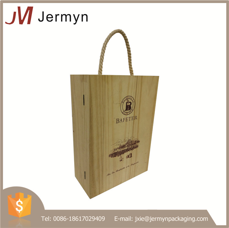 High quality Chinese manufacturer custom wine wood box wholesale