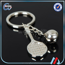 Stainless Steel mini Badminton Volleyball Tennis Ball Keychain Promotional