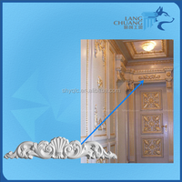 Yinqiao Supply Plaster of Paris Flower Design Carving Accessaries