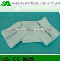 absorbent 100% pure cotton gauze sponges gauze swabs with x ray BP USP standard