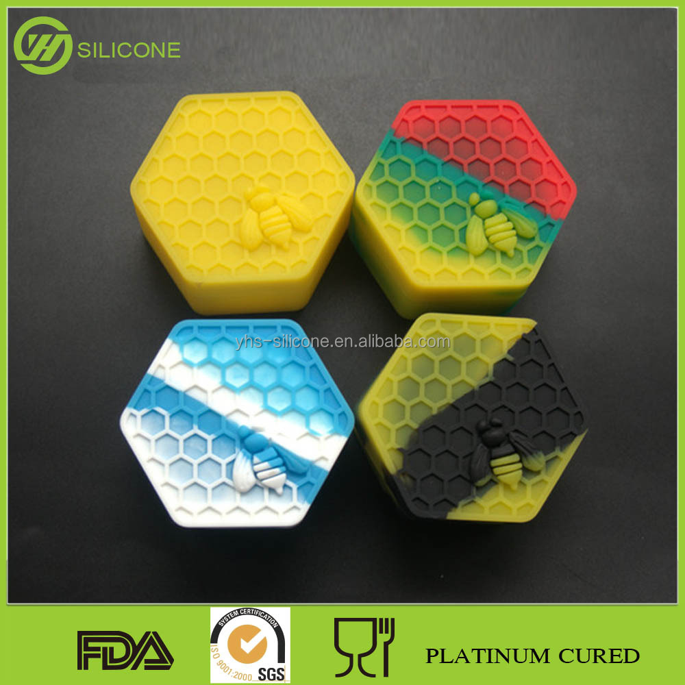 Factory Direct Sale Eco-Friendly Hexagon shape silicone containers