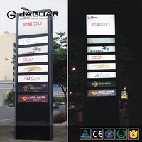 Outdoor free standing high custom double side lighted led pylon sign for sale