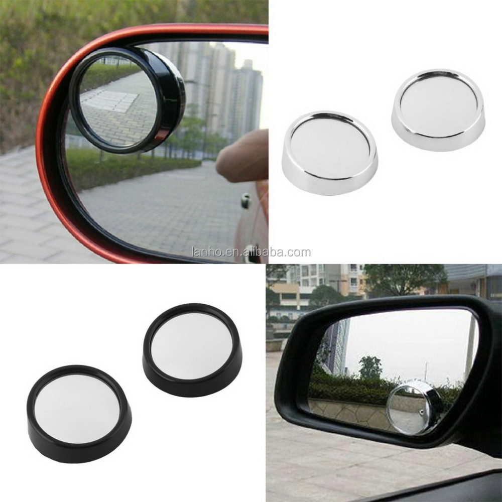 Car Rearview Mirrors Universal Blind Spot Rear View Mirror Exterior Auto Accessories Mirror Covers Wide Angle Round Convex~