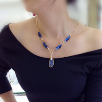 Hot sale crystal Real Pearl Necklace Price with gold plated for girls