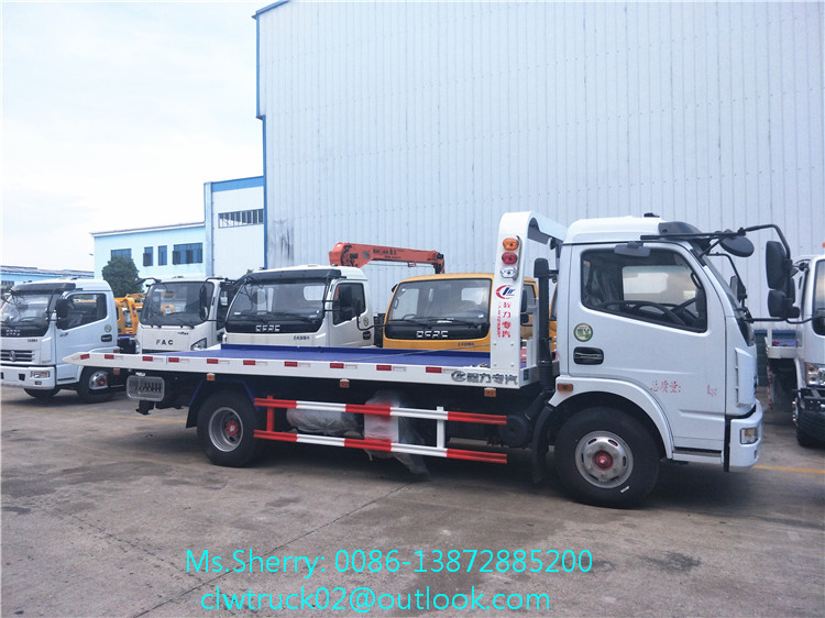 Export to Brazil Hot Sale DFAC 4*2 Flatbed Wrecker Towing Truck